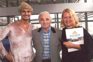 Ben Azri et Charles Aznavour