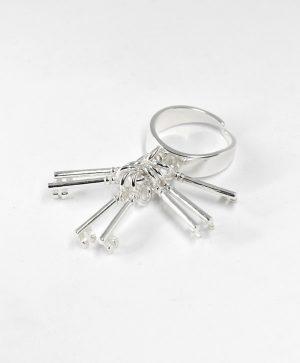 Bague Les 7 clés - Argent - Ben Azri