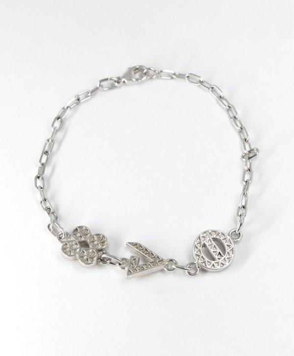 Bracelet Chaine - Chance force protection - argent - Ben Azri