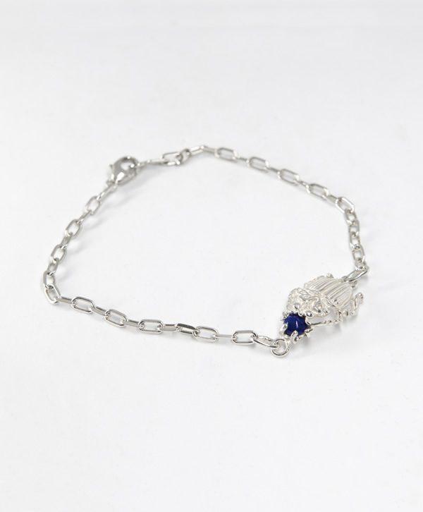 Bracelet Chaine - Scarabée de l'apaisement - Argent - Ben Azri