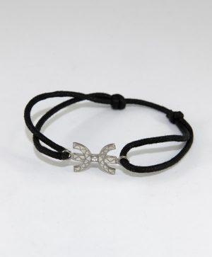 Bracelet Cordon noir - Liberté - Argent - Ben Azri