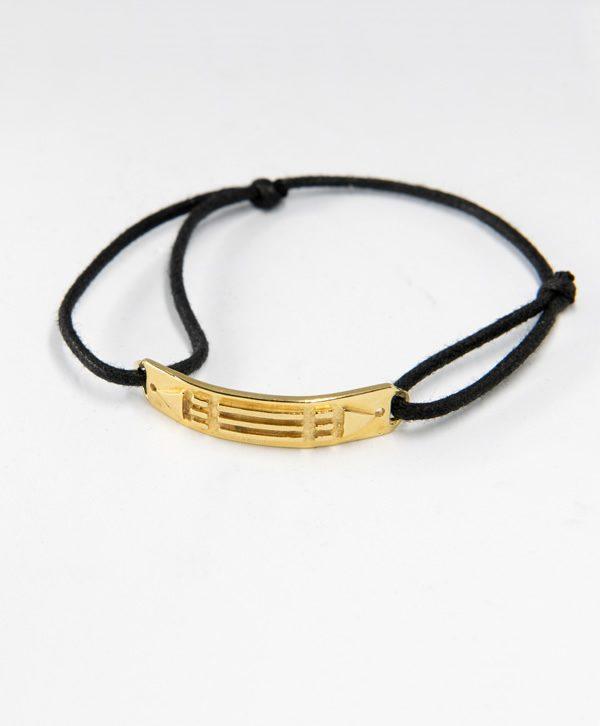 Bracelet Cordon Noir - Atlante - Or - Ben Azri