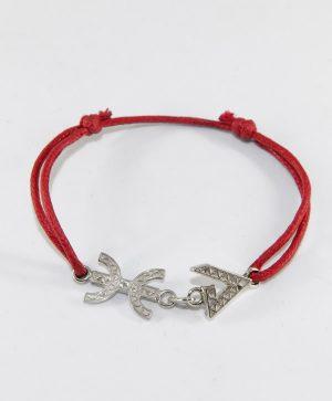 Bracelet Cordon Rouge - Liberté Force - Argent - Ben Azri