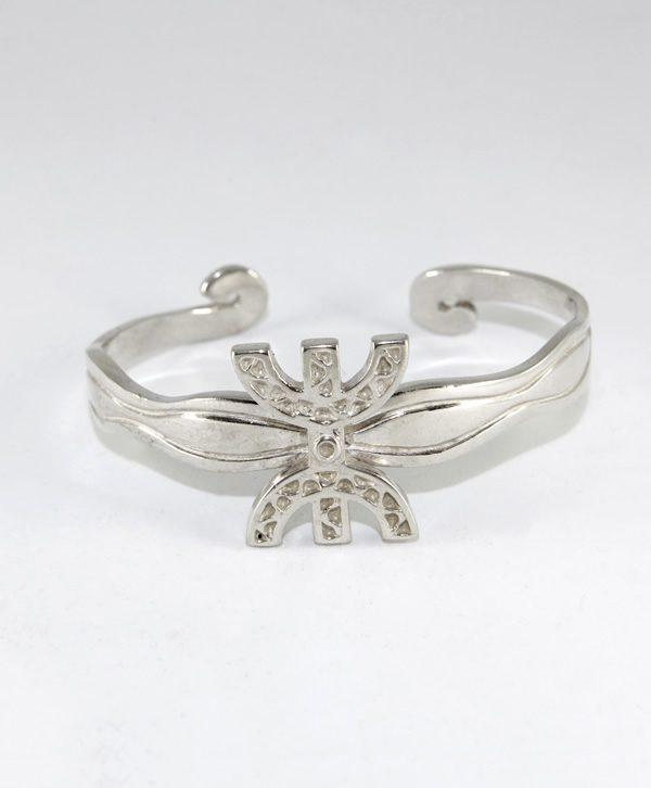 Bracelet Jonc Sculpture - Liberté - Argent - Ben Azri