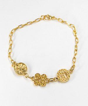 Bracelet Chaine - Amour Chance Protection - Or - Ben Azri