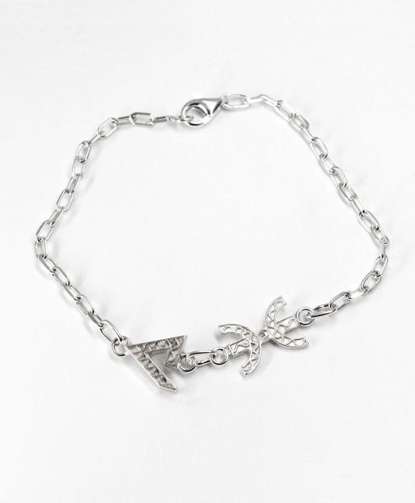 Bracelet Chaine - Force Liberté - argent - Ben Azri