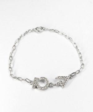 Bracelet Chaine - Optimisme Force - argent - Ben Azri