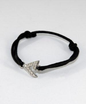 Bracelet Cordon Noir - Force - Argent - Ben Azri