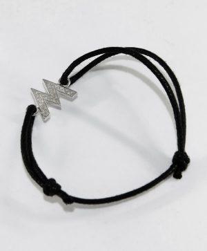 Bracelet Cordon Noir - Mémoire - Argent - Ben Azri