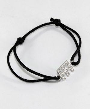 Bracelet Cordon Noir - Paix - Argent - Ben Azri