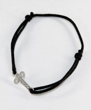 Bracelet Cordon Noir - Santé - Argent - Ben Azri