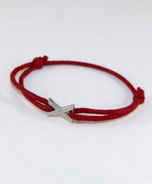 Bracelet Cordon Rouge - Belle Rencontre - Argent - Ben Azri