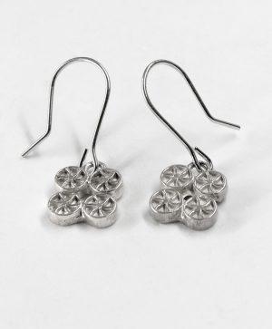 Boucles d'oreilles pendantes - Chance - Argent - Ben Azri