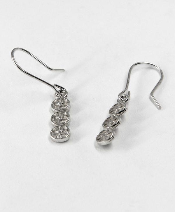 Boucles d'oreilles pendantes - Droiture - Argent - Ben Azri