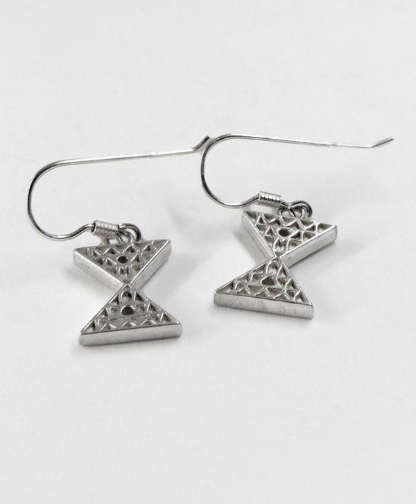 Boucles d'oreilles pendantes - Equilibre - Argent - Ben Azri