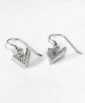 Boucles d'oreilles pendantes - Force - Argent - Ben Azri