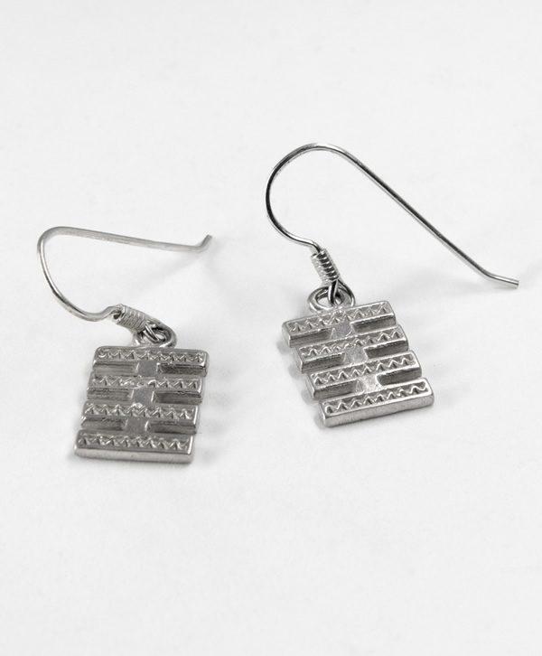 Boucles d'oreilles pendantes - Fraternité - Argent - Ben Azri