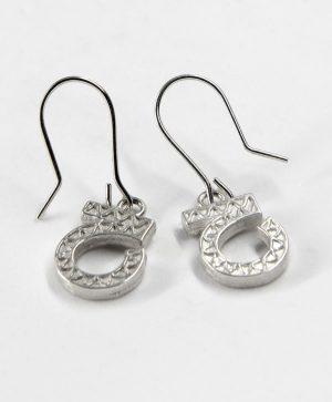 Boucles d'oreilles pendantes - Optimisme - Argent - Ben Azri