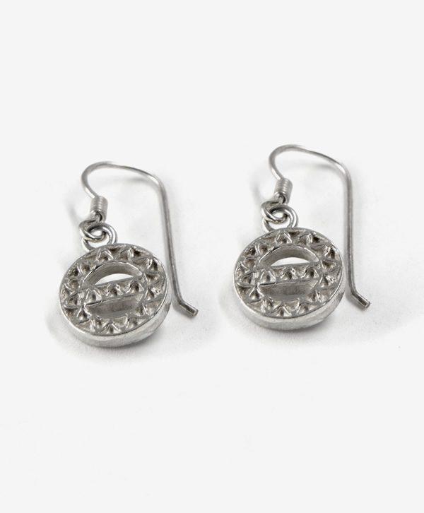 Boucles d'oreilles pendantes - Protection - Argent - Ben Azri