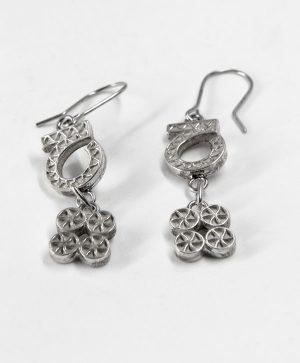 Boucles d'oreilles pendantes - Chance Optimisme - Argent - Ben Azri