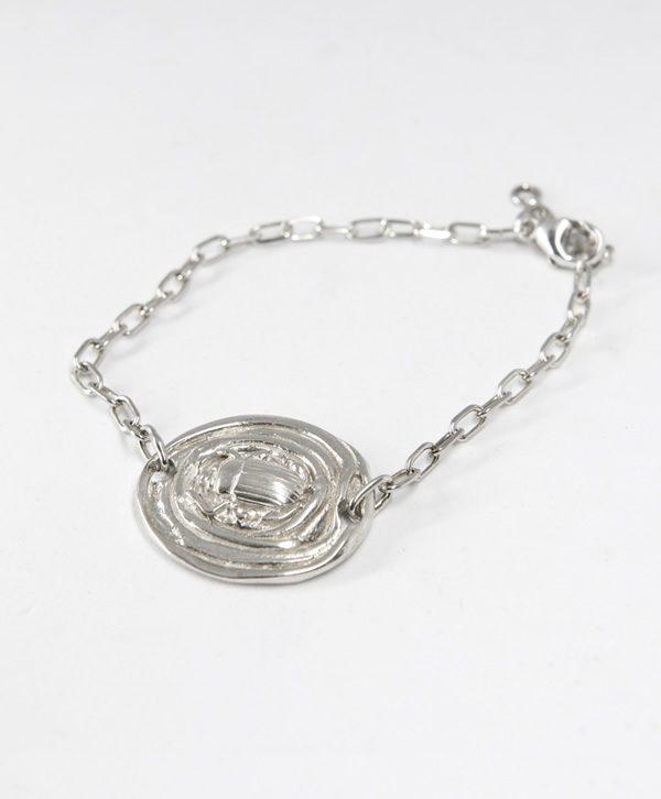 Bracelet Chaine - Scarabée Soleil - Argent - Ben Azri