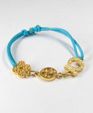 Bracelet Cordon Bleu - Chance Amour Optimisme - Or - Ben Azri