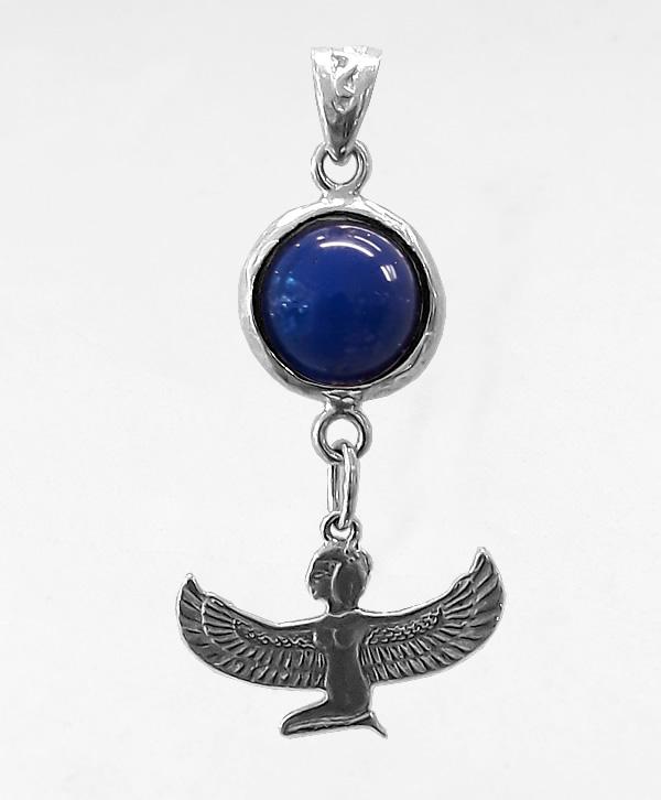 Pendentif Déesse Isis Lapis-Lazuli - Méditation - Argent - Ben AZRI