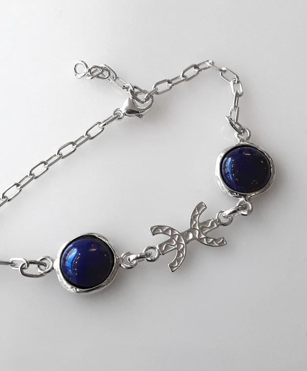 bracelet-chaine-lapis-liberté-argent-ben-azri
