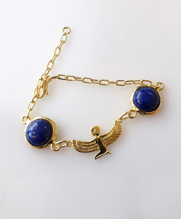 bracelet-chaine-lapis-isis-méditation-or-ben-azri