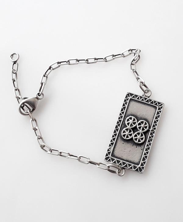 bracelet-chaine-cartouche-chance-argent-ben-azri