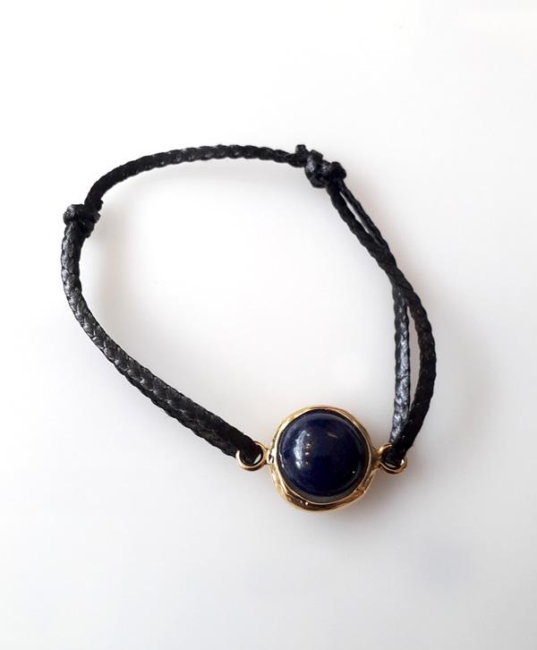 bracelet-cordon-noir-lapis-lazuli-or-ben-azri
